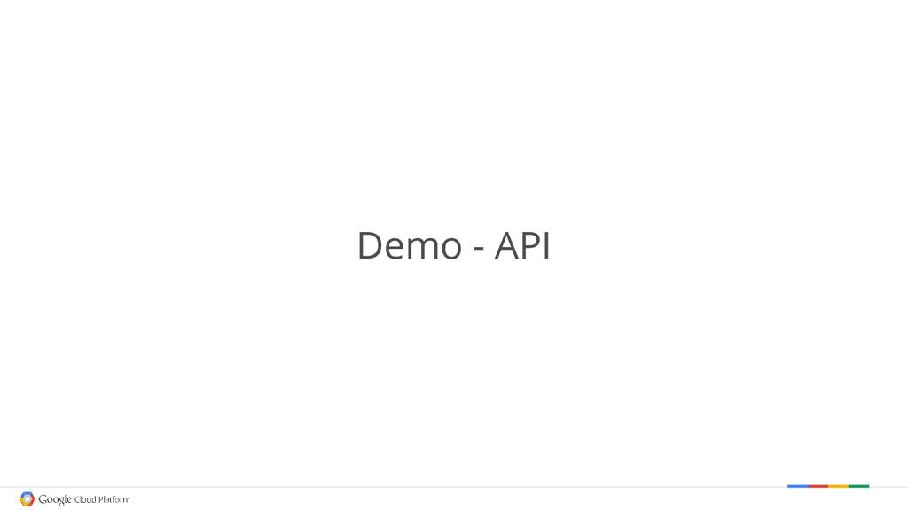 Demo - API