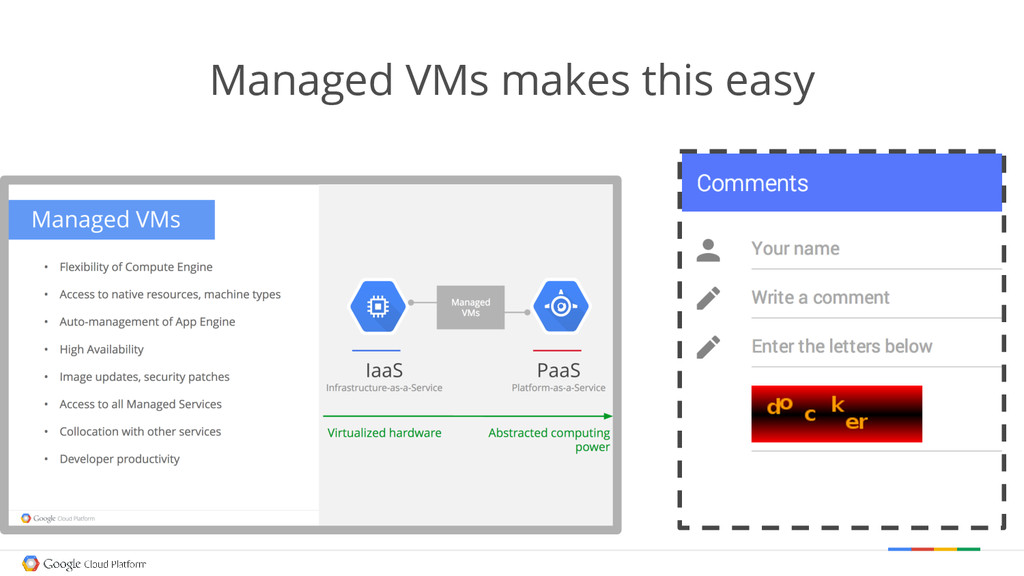 Managed VMs makes this easy