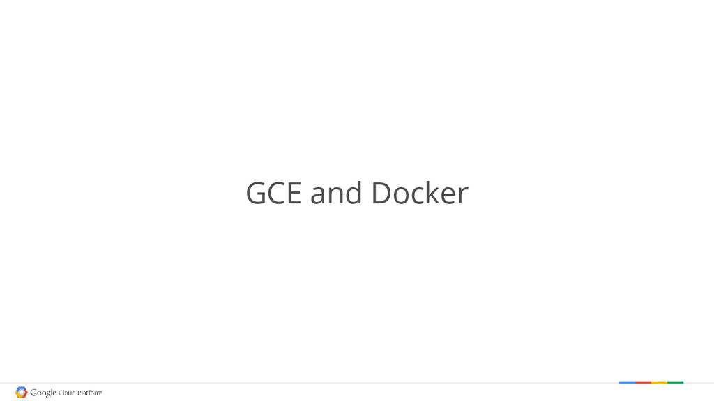 GCE and Docker