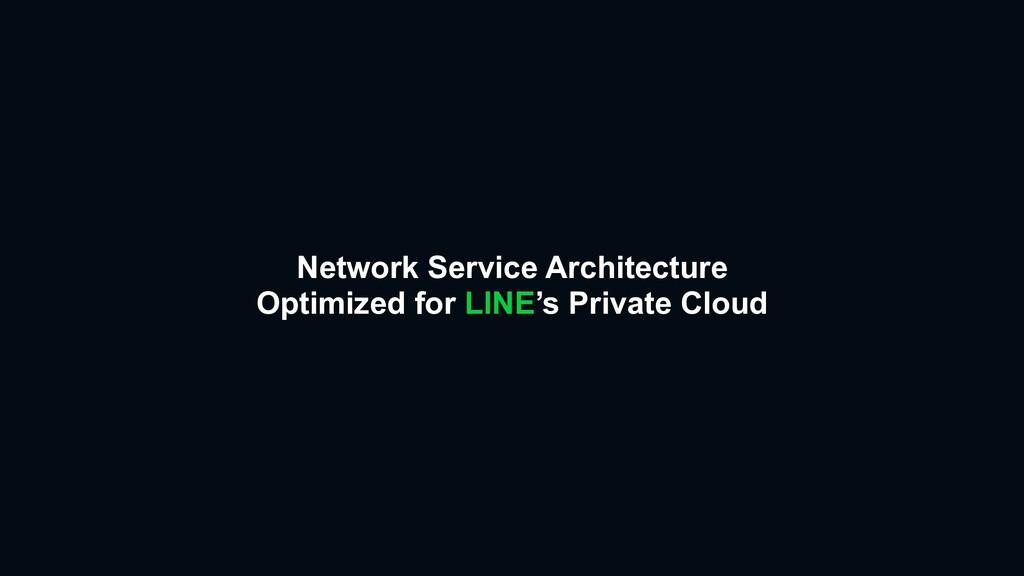 Network Service Architecture  Optimized for LI...