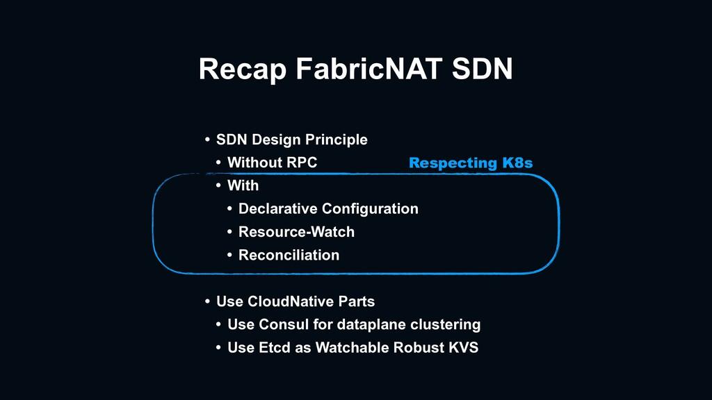Recap FabricNAT SDN • SDN Design Principle • Wi...
