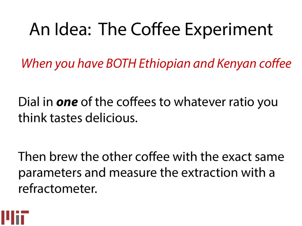 An Idea: The Coffee Experiment When you have BOT...