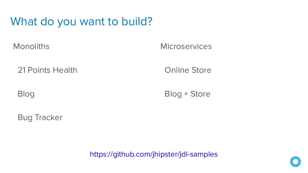 What do you want to build? Monoliths 21 Points ...