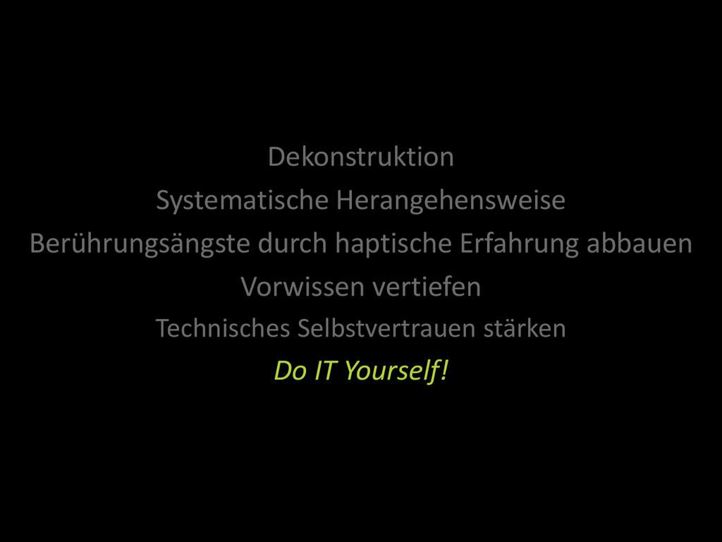 Dekonstruktion Systematische Herangehensweise B...
