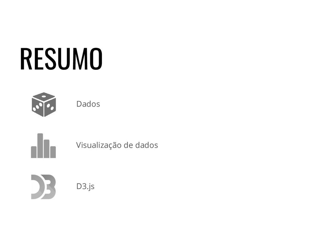 RESUMO Visualização de dados Dados D3.js