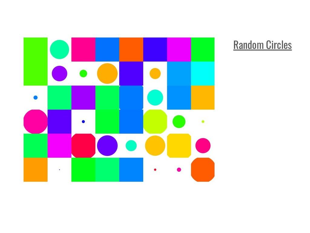Random Circles