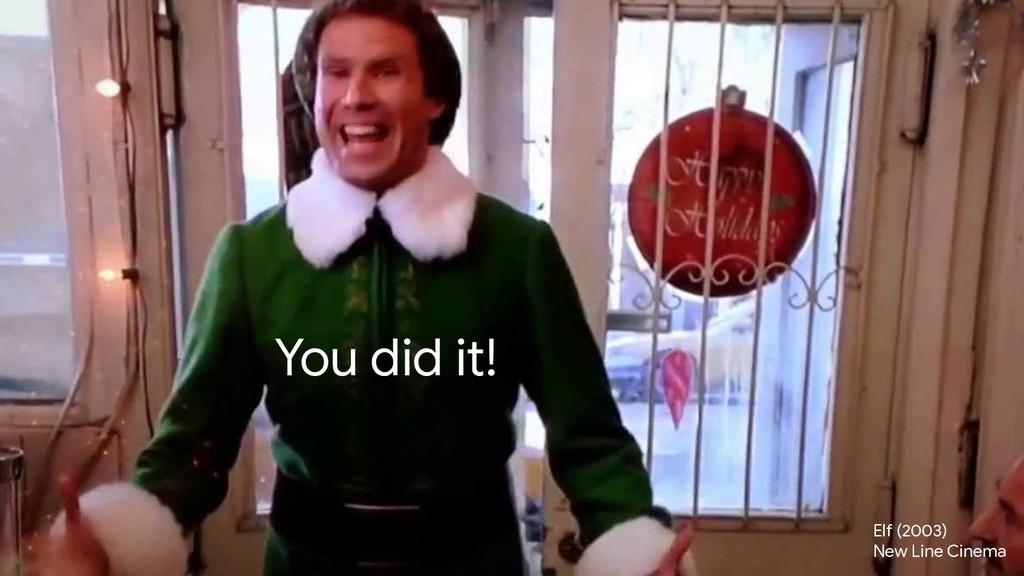 crwilcox @chriswilcox47 You did it! Elf (2003) ...