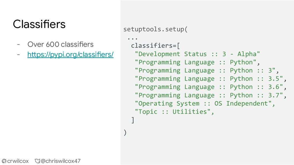 crwilcox @chriswilcox47 Classifiers - Over 600 ...