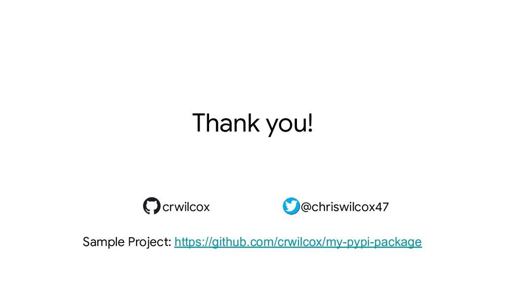 crwilcox @chriswilcox47 Thank you! crwilcox @ch...