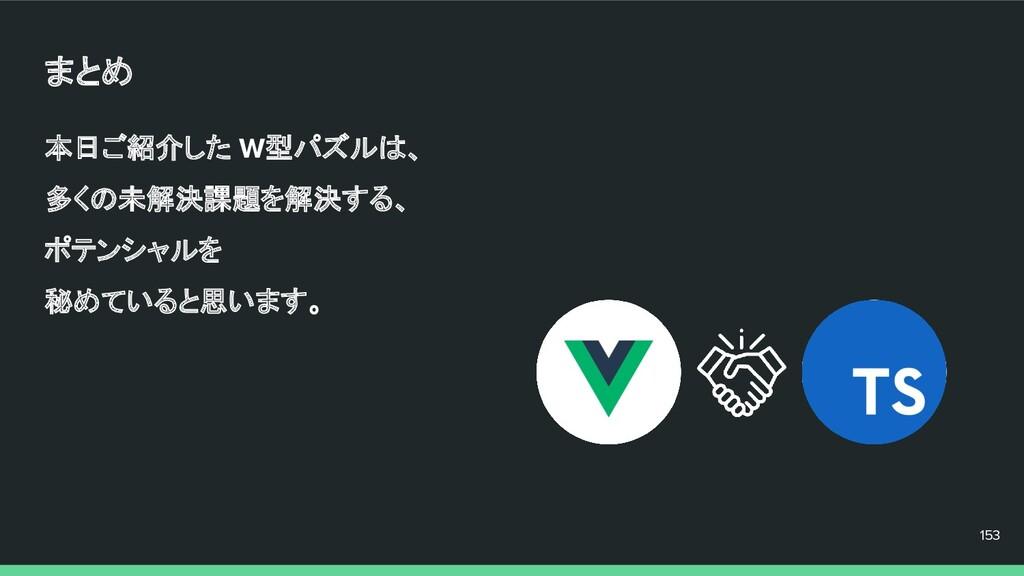 本日ご紹介した W型パズルは、 多くの未解決課題を解決する、 ポテンシャルを 秘めていると思い...