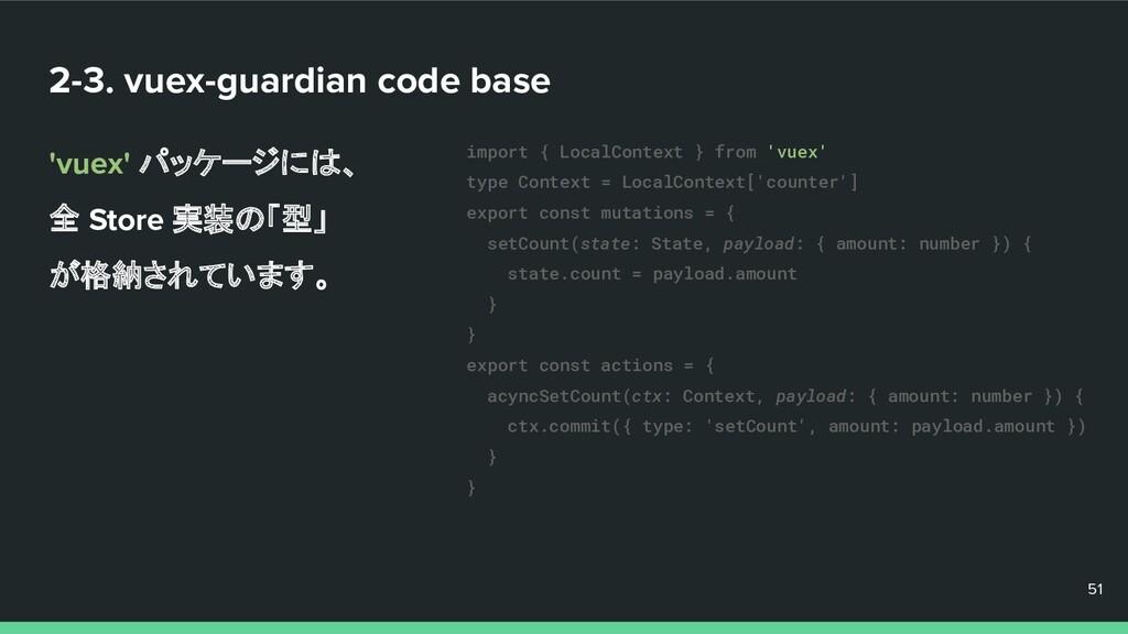 2-3. vuex-guardian code base 'vuex' パッケージには、 全 ...