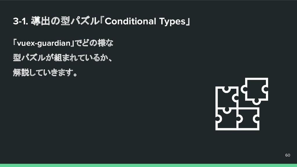 3-1. 導出の型パズル「Conditional Types」 「vuex-guardian」...