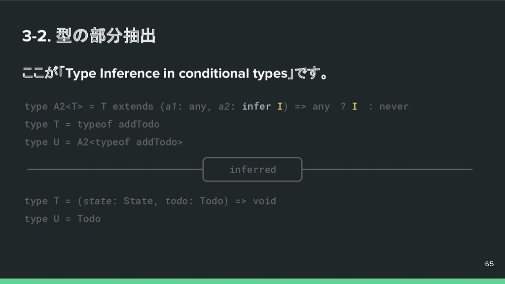 3-2. 型の部分抽出 ここが「Type Inference in conditional t...