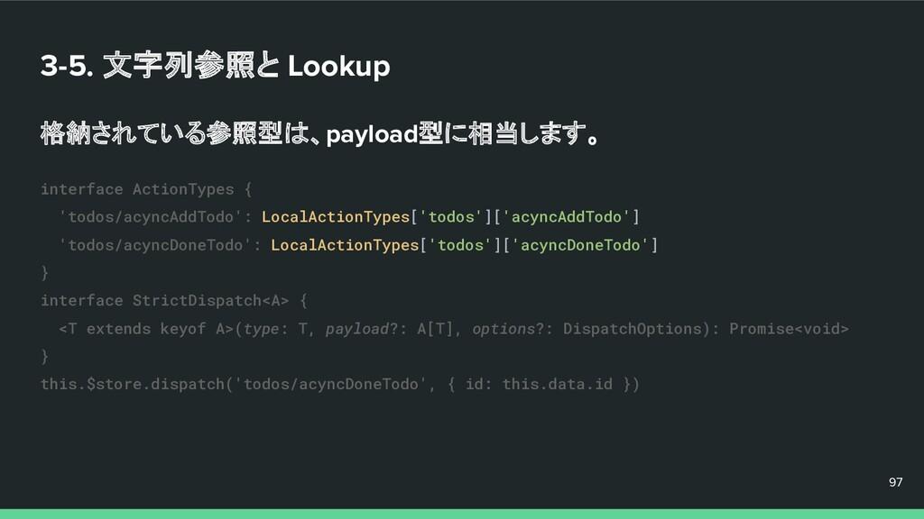 3-5. 文字列参照と Lookup 格納されている参照型は、payload型に相当します。 ...