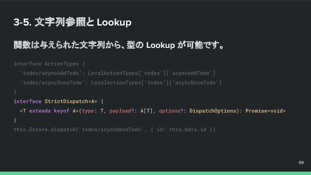 3-5. 文字列参照と Lookup 関数は与えられた文字列から、型の Lookup が可能で...