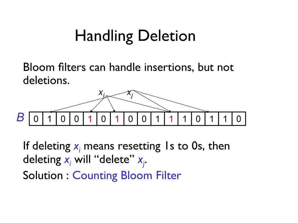 Handling Deletion   Bloom filters can handle i...