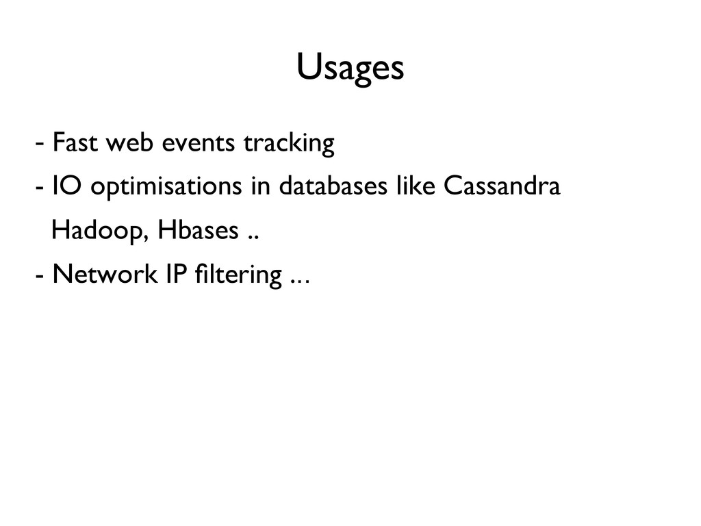 Usages   - Fast web events tracking  - IO o...