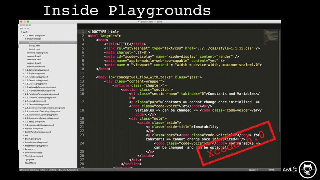 swift Xcode 6.3-beta Xcode 6.0 Inside Playgroun...