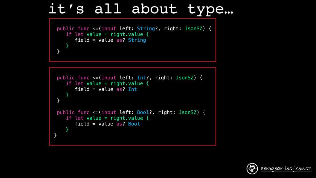it's all about type… public func <=(inout left:...