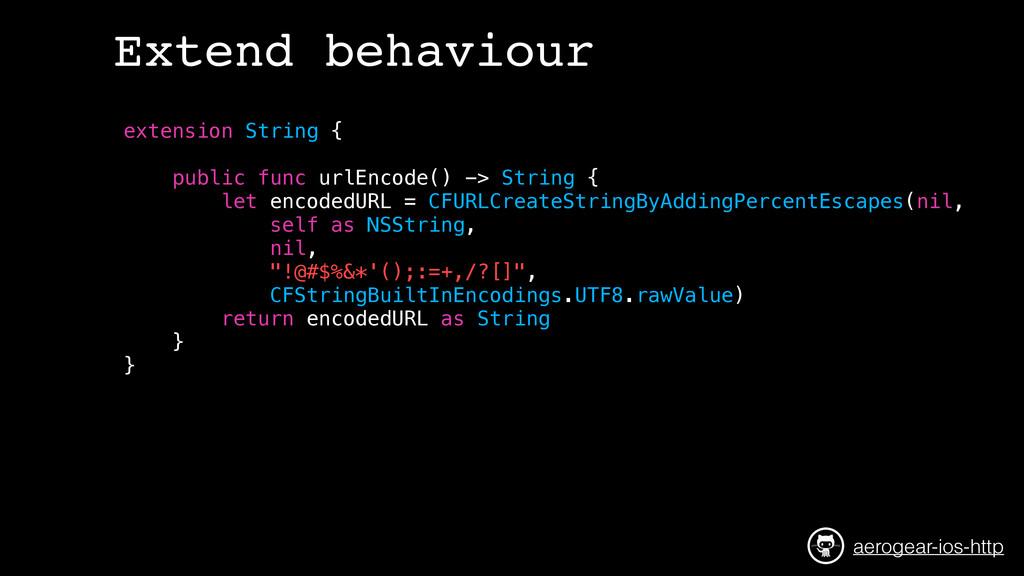 extension String { public func urlEncode() -> S...