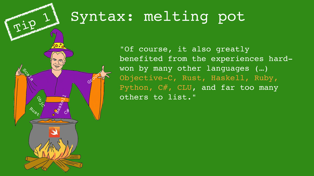 """Syntax: melting pot Tip 1 """"Of course, it also g..."""
