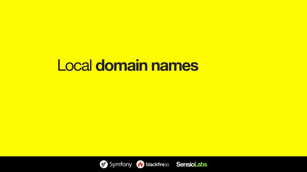 Local domain names