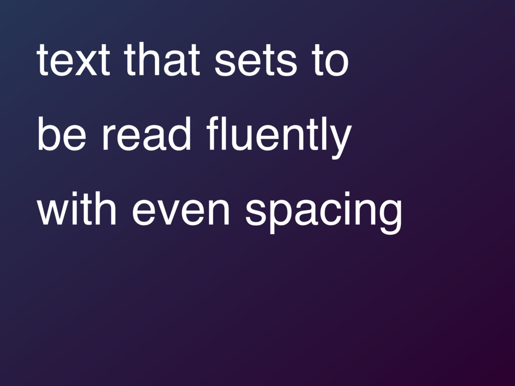 text that sets to 