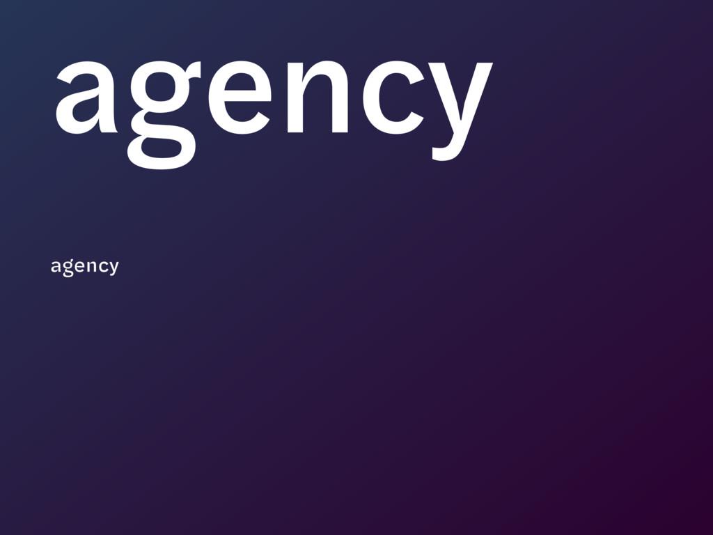 agency agency