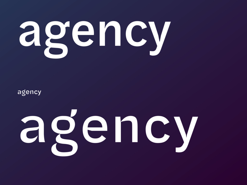 agency agency agency