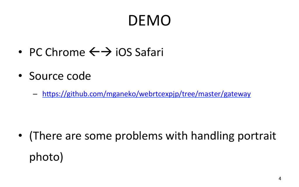 DEMO • PC Chrome ßà iOS Safari • Source code ...