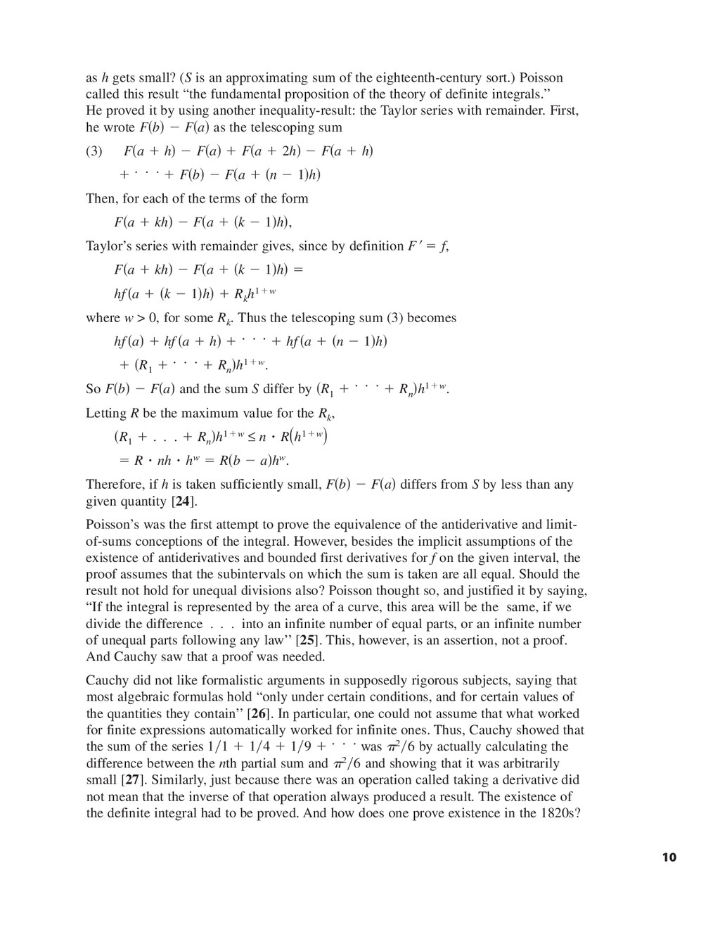 as h gets small? (S is an approximating sum of ...