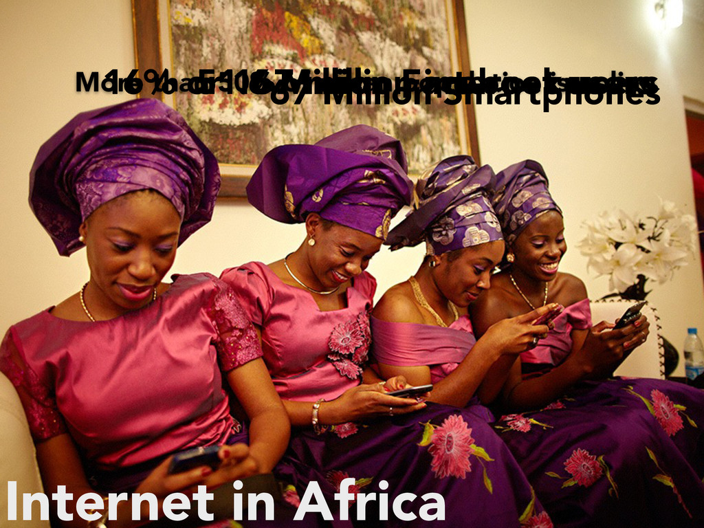 Internet in Africa 16% or 167 million internet ...