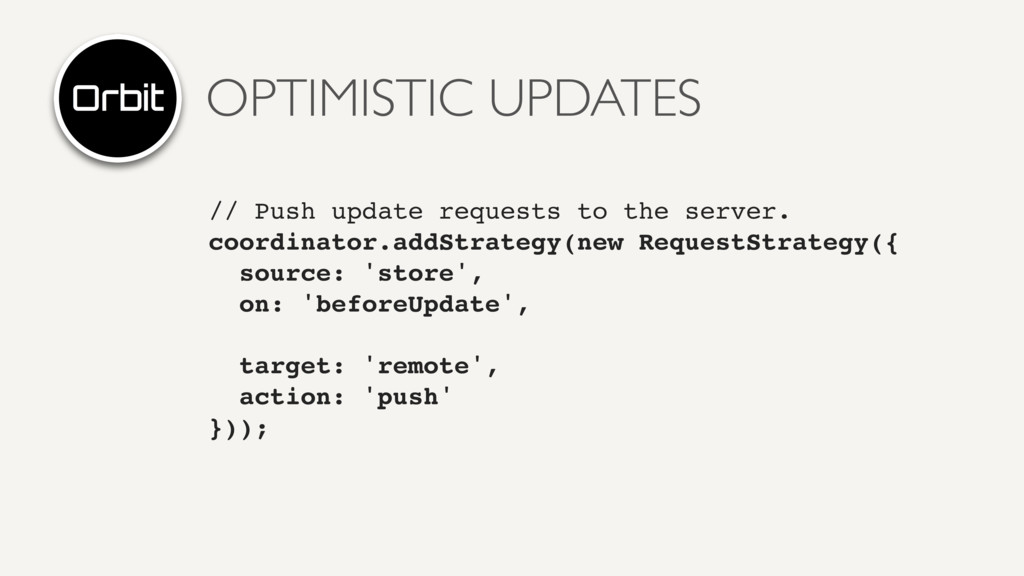 OPTIMISTIC UPDATES // Push update requests to t...