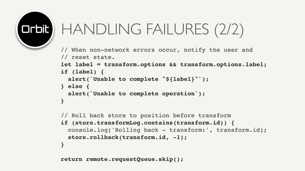 HANDLING FAILURES (2/2) // When non-network err...