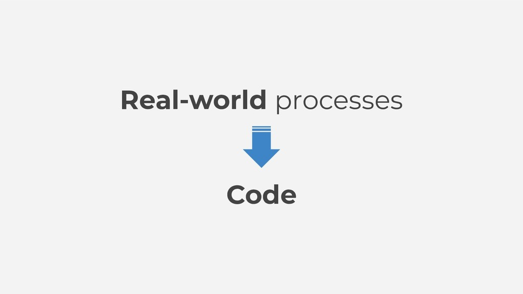 Real-world processes Code