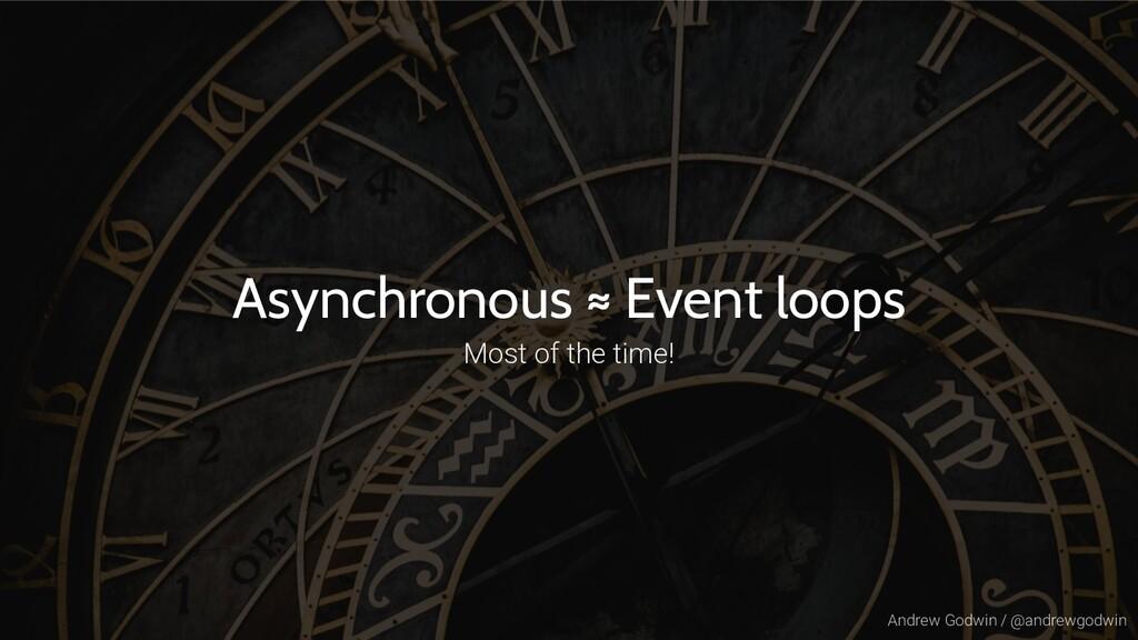 Andrew Godwin / @andrewgodwin Asynchronous ≈ Ev...
