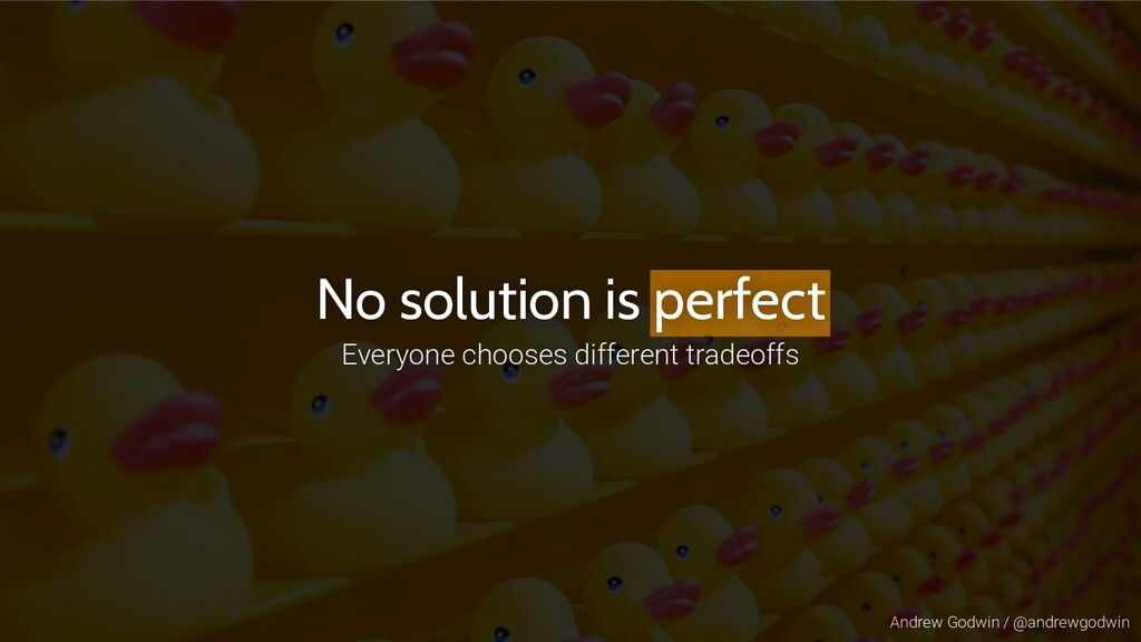 Andrew Godwin / @andrewgodwin No solution is pe...