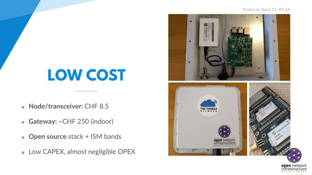 LOW COST Node/transceiver: CHF 8.5 Gateway: ~CH...