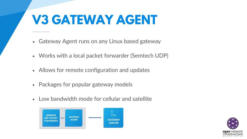 V3 GATEWAY AGENT • Gateway Agent runs on any Li...