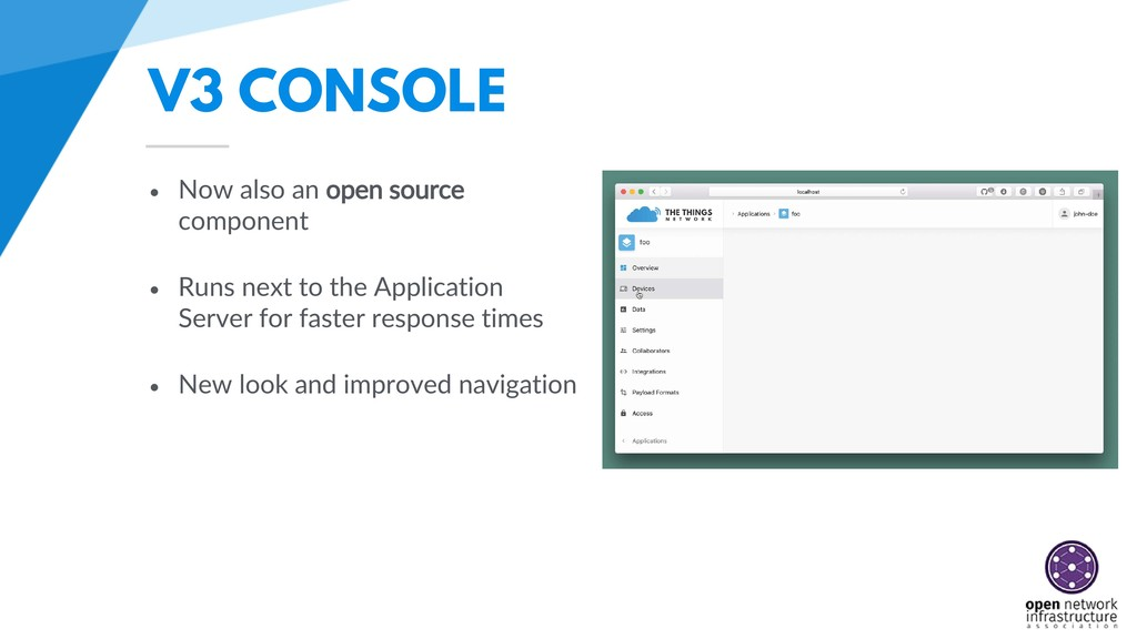 V3 CONSOLE • Now also an open source component ...