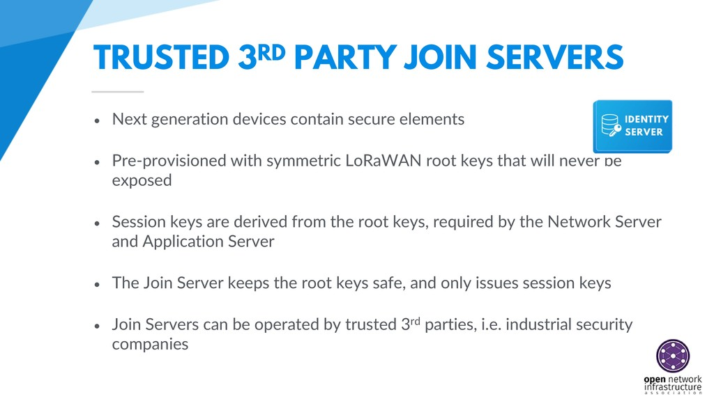 TRUSTED 3RD PARTY JOIN SERVERS • Next generatio...