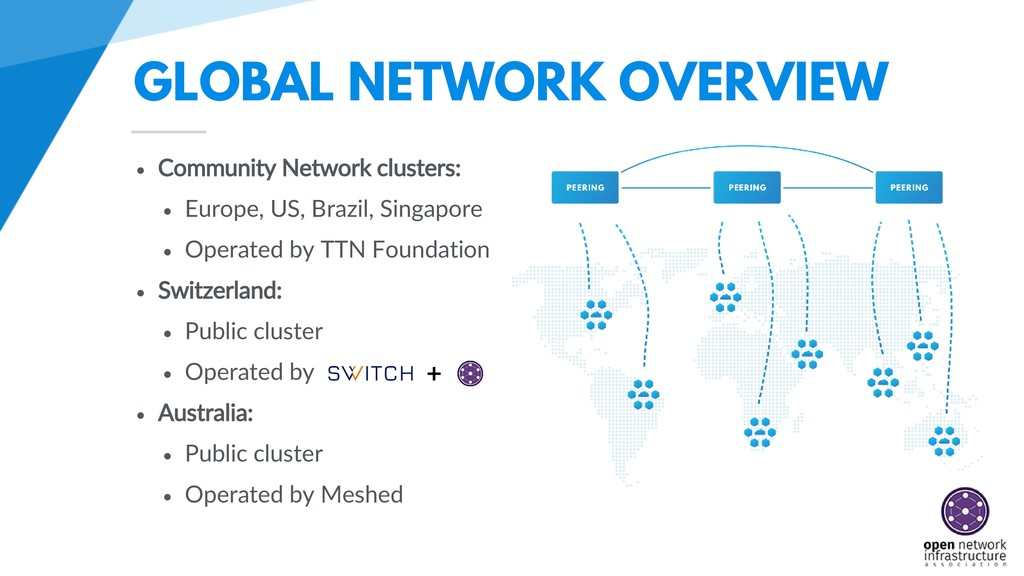 GLOBAL NETWORK OVERVIEW • Community Network clu...