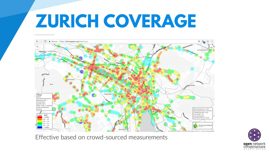 ZURICH COVERAGE Effective based on crowd-source...