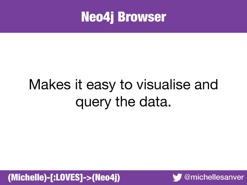 Neo4j Browser @michellesanver Makes it easy to ...