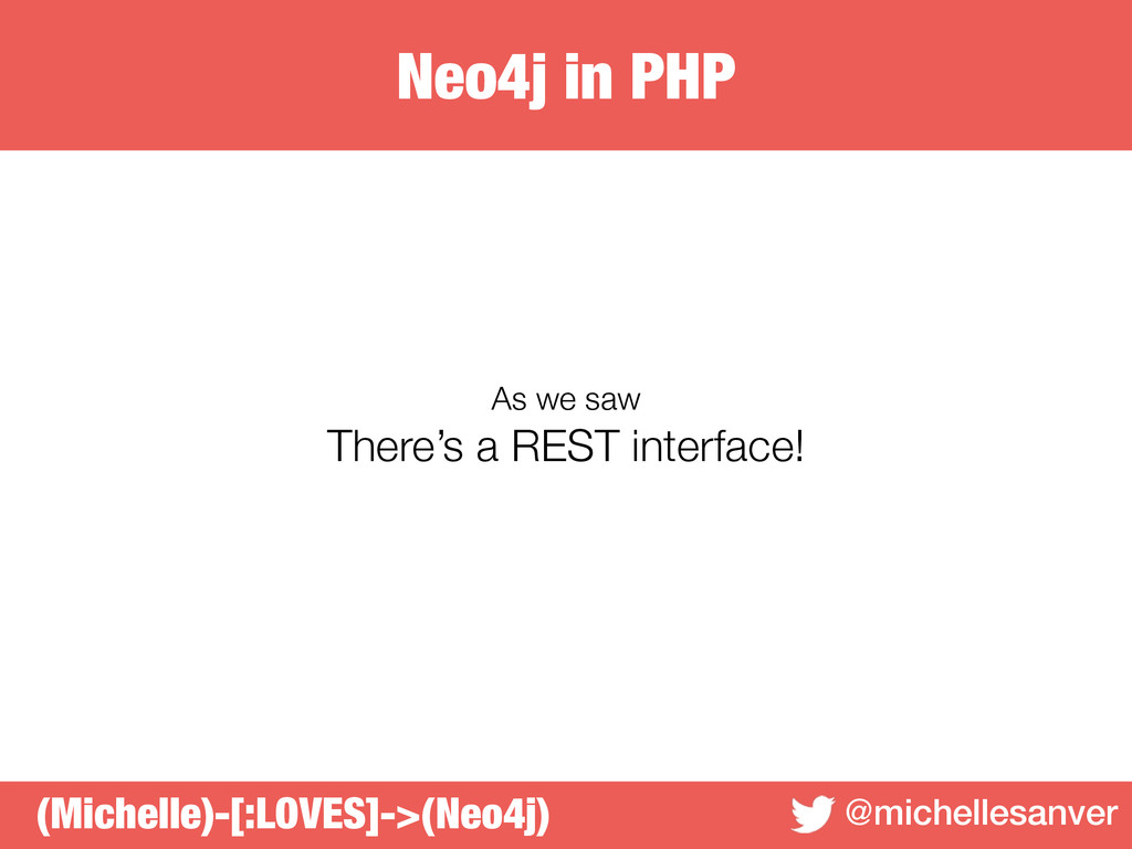 Neo4j in PHP @michellesanver As we saw There's ...