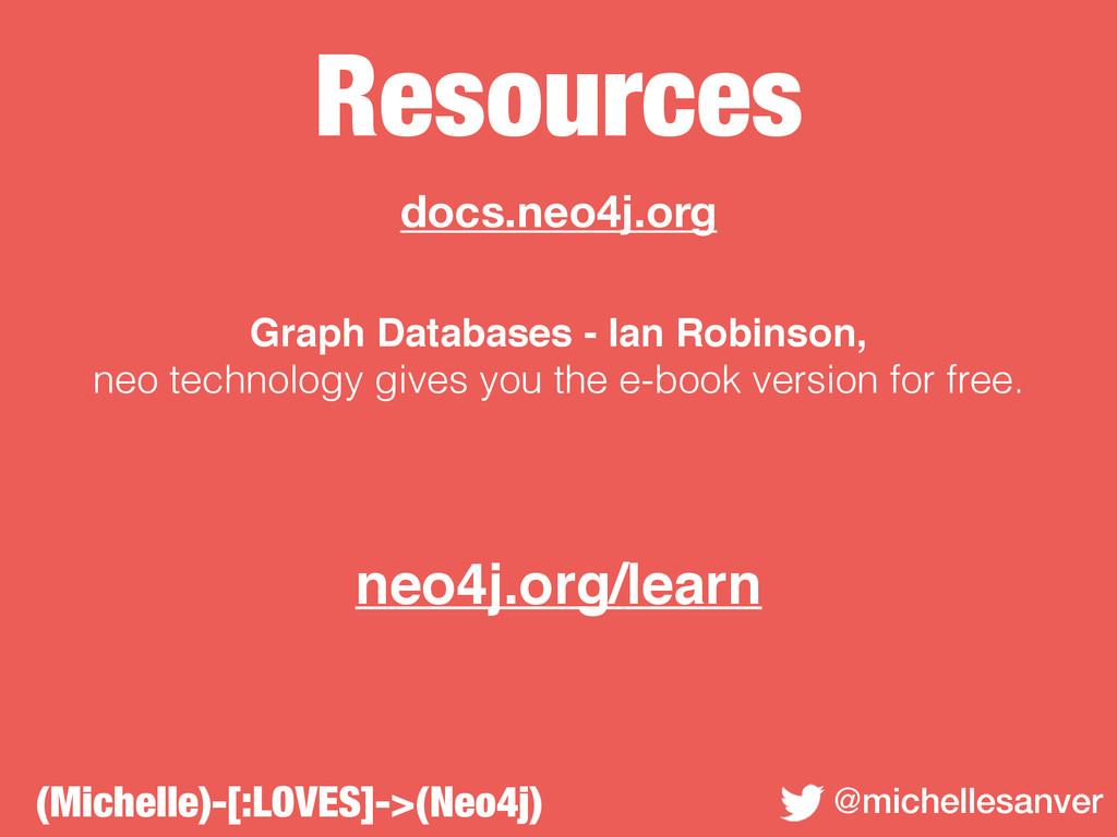 Resources @michellesanver docs.neo4j.org Graph ...