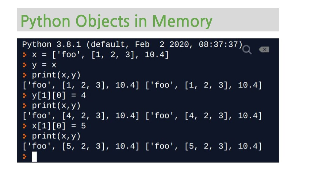 Python Objects in Memory