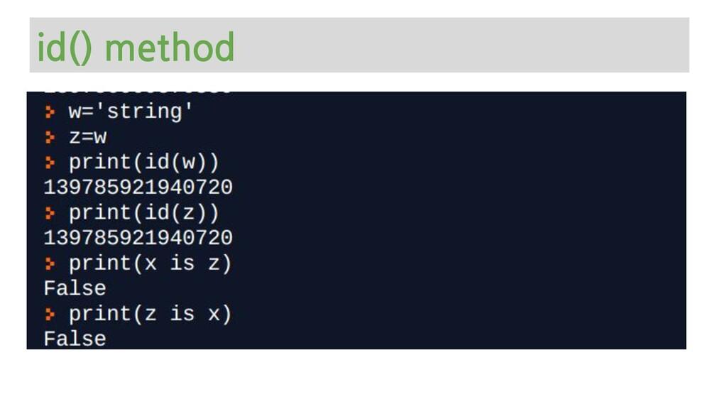 id() method