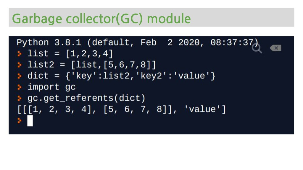 Garbage collector(GC) module