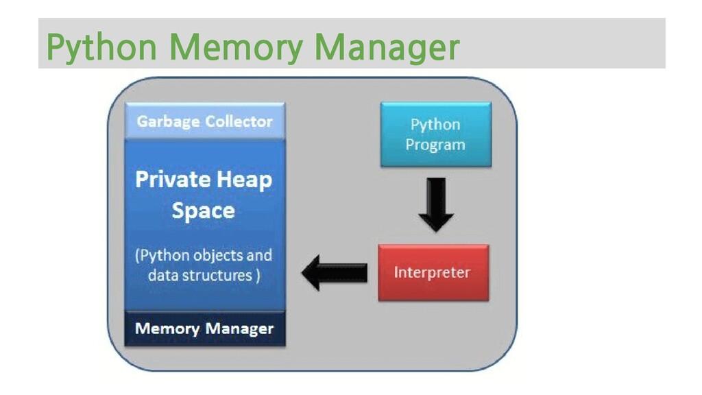Python Memory Manager